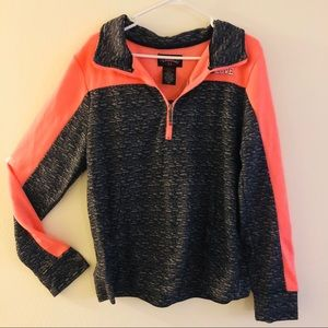 Pink and Grey 1/2 Zip Sweater